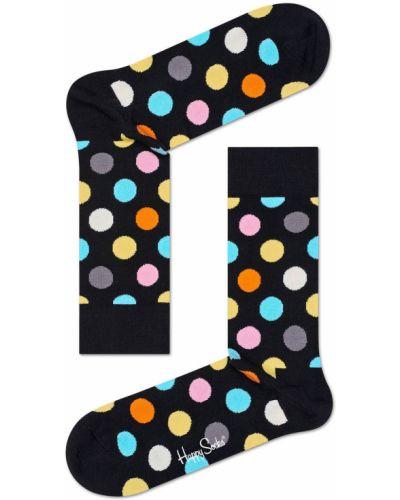 Черные колготки с узором Happy Socks