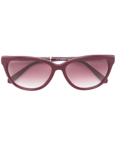 Солнцезащитные очки кошачий глаз красный Swarovski Eyewear