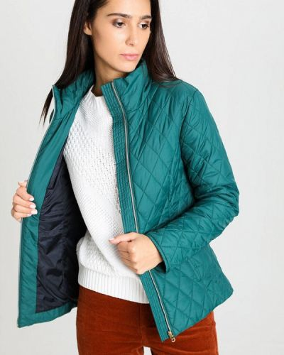 Бирюзовая теплая куртка O'stin