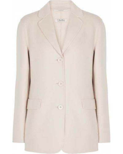 Шерстяная белая куртка 's Max Mara