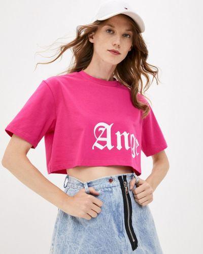 Розовая с рукавами футболка Artem Krivda