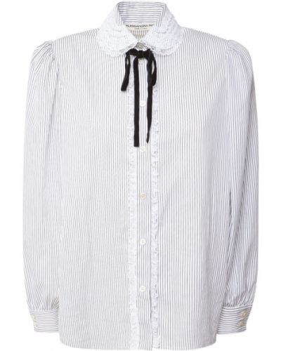 Koszula bawełniana koronkowa sznurowana Alessandra Rich