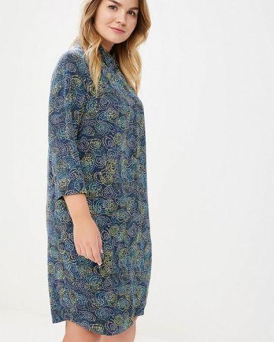 Платье весеннее синее Bonne Femme