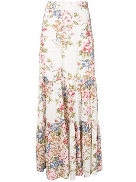 Ажурная прямая с завышенной талией юбка макси из вискозы Auguste