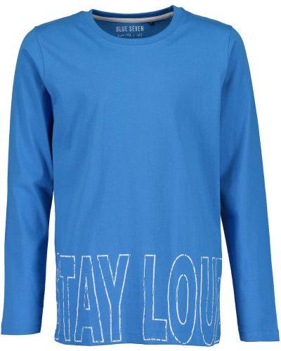 T-shirt niebieski Blue Seven
