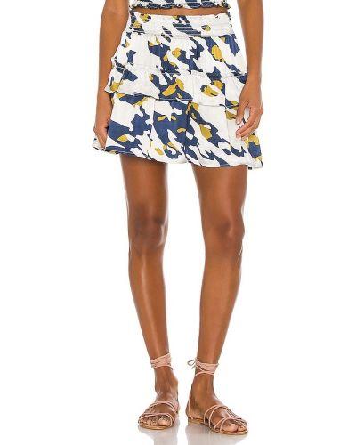 Базовая сатиновая синяя юбка мини Blue Life