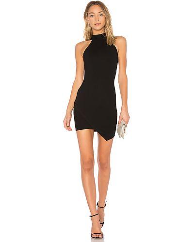 Akryl czarny asymetryczny sukienka mini z zamkiem błyskawicznym Superdown