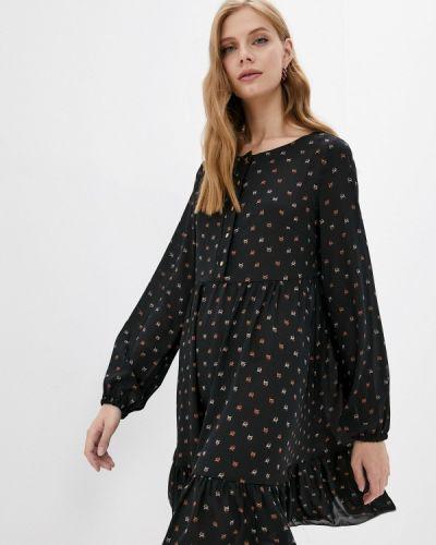 Черное повседневное платье Adzhedo