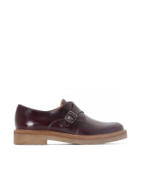 Кожаные ботинки с пряжкой на каблуке Kickers