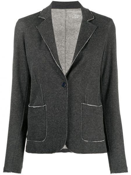 Серый классический пиджак с карманами с заплатками Majestic Filatures