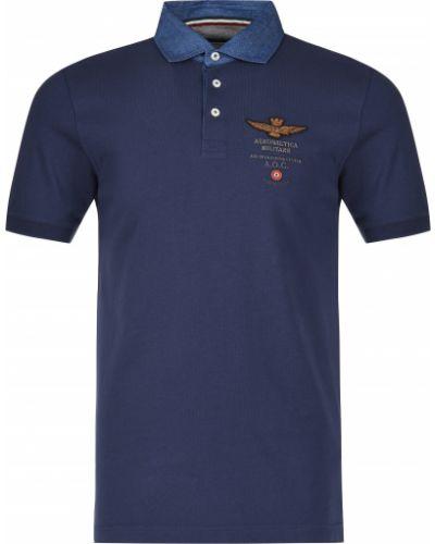 Поло синий Aeronautica Militare