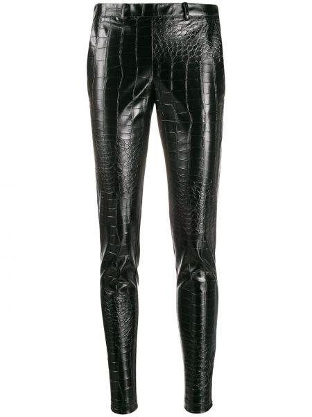 Czarne spodnie bawełniane z paskiem Giamba