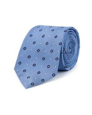 Niebieski krawat z jedwabiu Tommy Hilfiger Tailored