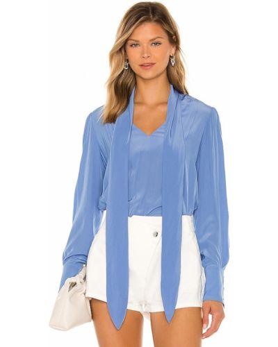 Блузка атласная - синяя Smythe