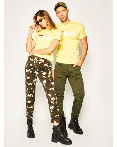 Klasyczna koszula, żółty Fila