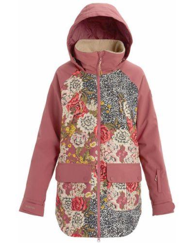 Утепленная розовая спортивная куртка на молнии Burton