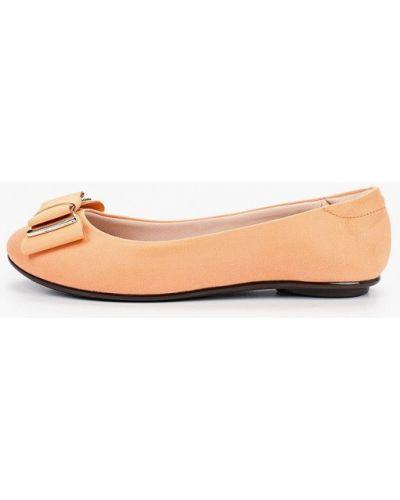 Оранжевые текстильные балетки Moleca