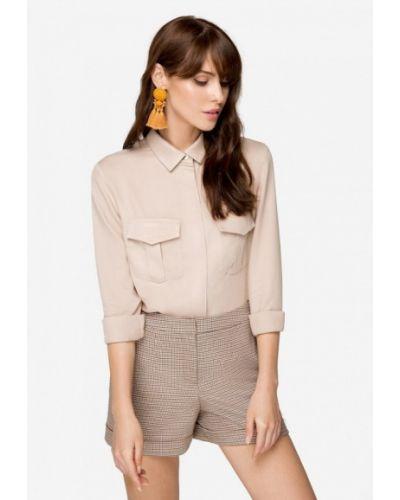 Блузка с длинным рукавом осенняя бежевый Solou