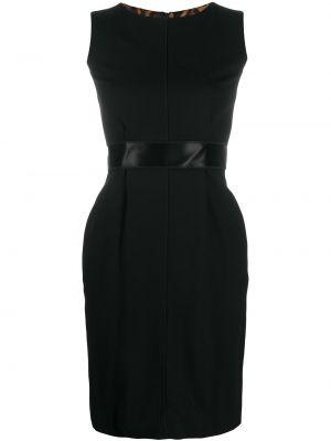 Черное платье без рукавов со шлицей с вырезом Dolce & Gabbana Pre-owned