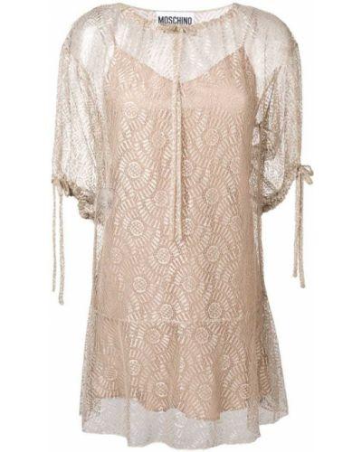 Платье бежевое Moschino