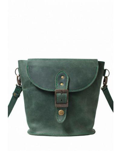 Зеленая кожаный сумка Incarne