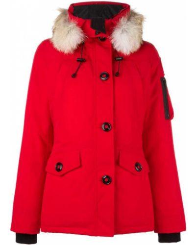 Красная парка с капюшоном Canada Goose