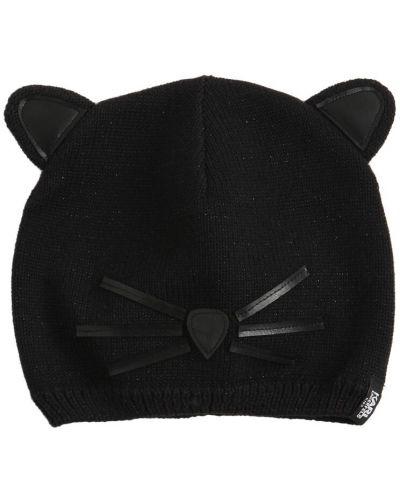 Кожаная шапка - черная Karl Lagerfeld