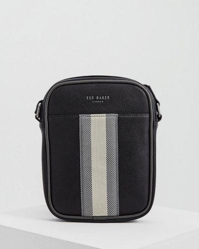 Черная кожаная сумка через плечо Ted Baker London