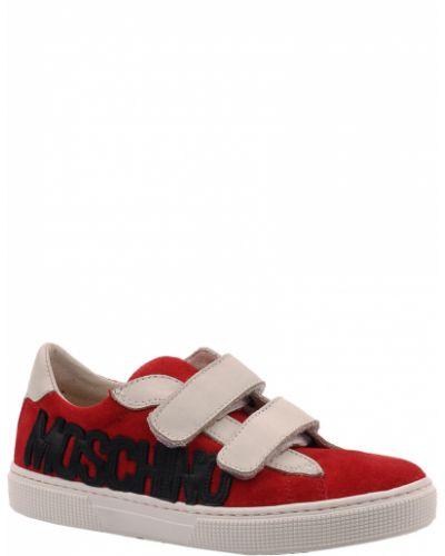 Кеды красные кожаный Moschino