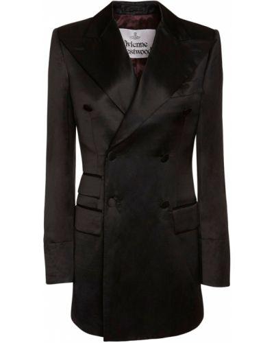 Сатиновое черное платье с карманами Vivienne Westwood