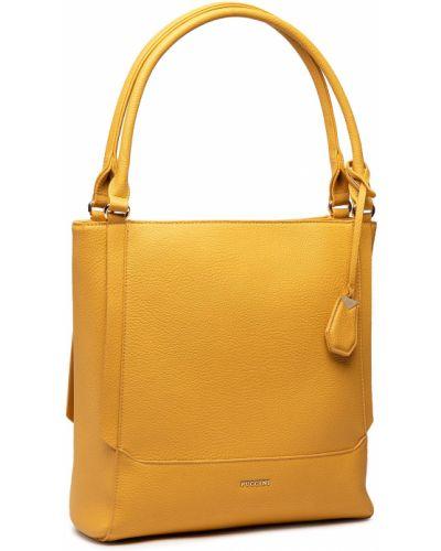 Żółta torebka Puccini
