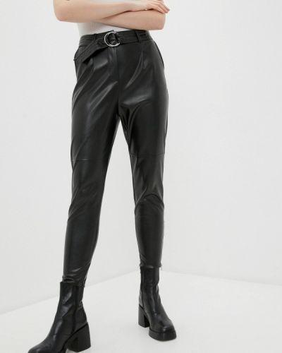 Черные кожаные брюки Zabaione