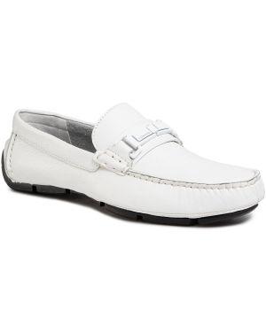 Białe mokasyny skorzane na co dzień Calvin Klein