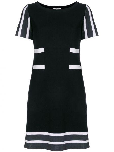 Черное хлопковое платье Charlott