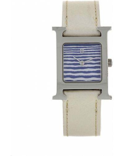 С ремешком кожаные кварцевые часы квадратные Hermès