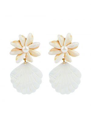Białe złote kolczyki Brinker & Eliza