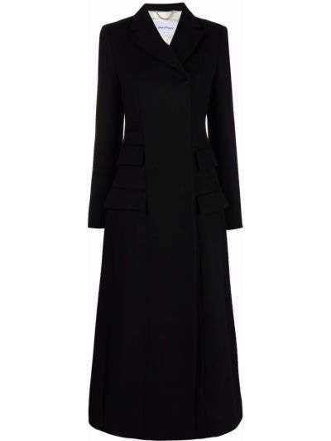 Черное шерстяное пальто Salvatore Ferragamo