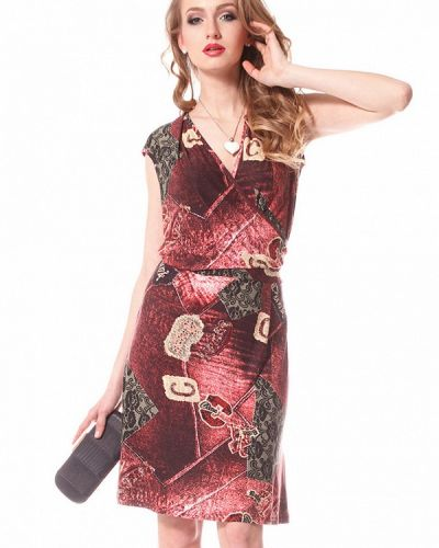 Платье осеннее красный Evercode
