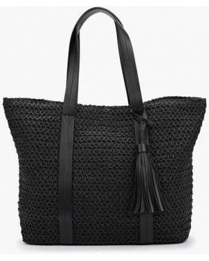 Черная пляжная сумка Fabretti