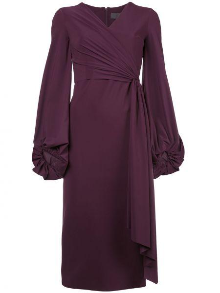 Платье миди с V-образным вырезом на молнии Greta Constantine