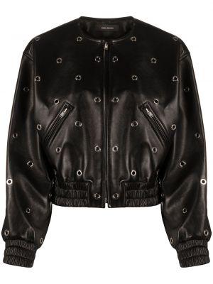 Черная кожаная куртка Isabel Marant