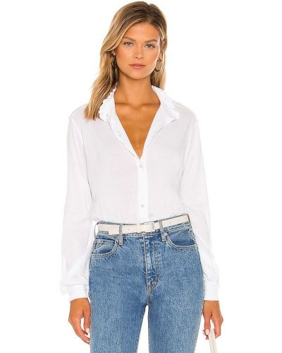Блузка с декольте - белая La Made