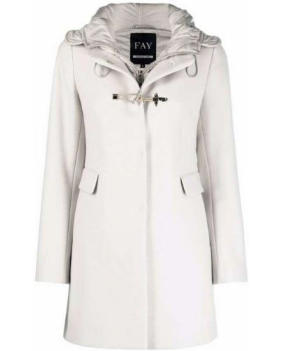 Biały płaszcz Fay