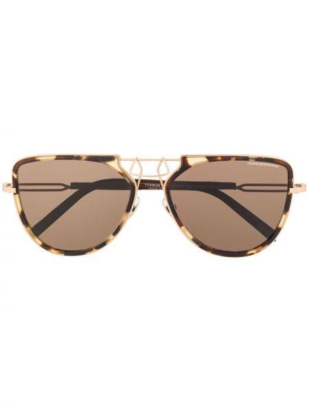 Brązowe okulary Calvin Klein 205w39nyc