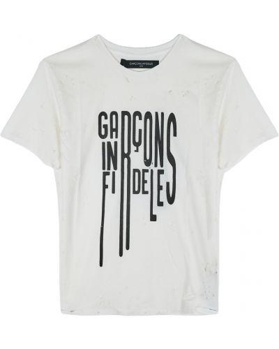 T-shirt z printem Garçons Infideles