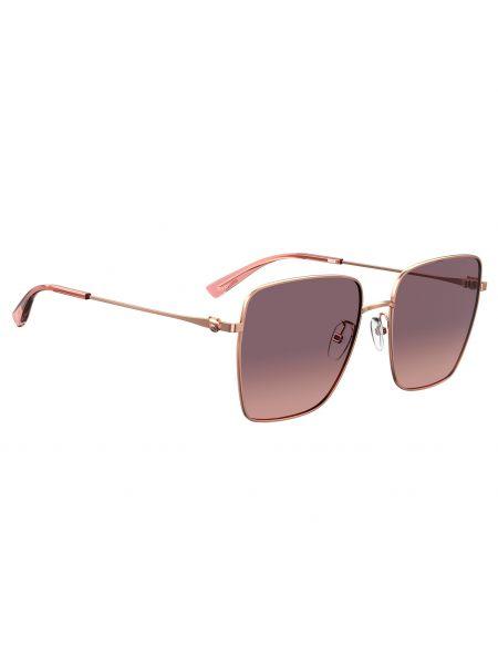 Złote okulary Moschino