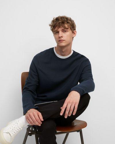 Niebieski sweter bawełniany Marc O Polo