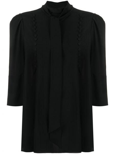 Prosto jedwab czarny bluzka z kołnierzem Givenchy