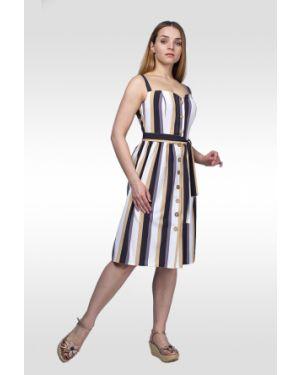 Платье на пуговицах на бретелях Lila Classic Style