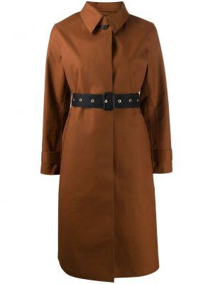 Шерстяное пальто классическое с воротником с поясом на пуговицах Mackintosh